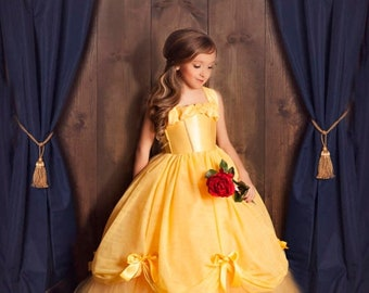 ON SALE Belle Dress- Princess Belle Tutu Dress- Belle Costume- Beauty and the Beast
