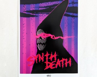 "Limited ""Synth Death"" Art Print"