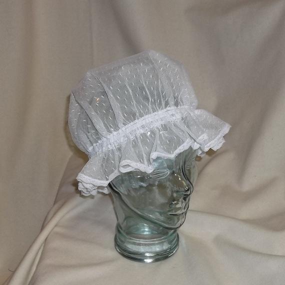 Women's Vintage Hats | Old Fashioned Hats | Retro Hats White Point dEsprit Lace CapWhite Point dEsprit Lace Cap  AT vintagedancer.com