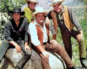 Cast of Bonanza an NBC western TV series , 1960's