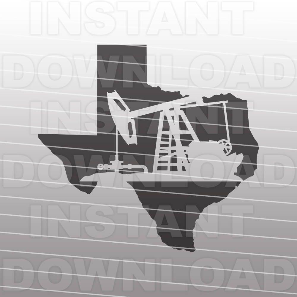 Texas Oil Pipeline Pumpjack Svg File Oilfield Svg Pipeline