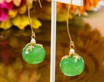Pleasing Green Dangles