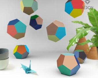 DIY Dodekaeder Bastelbogen Set