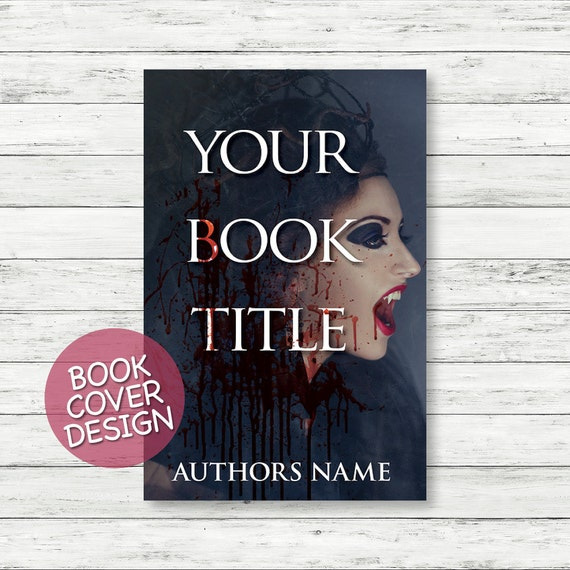 Book cover design / ebook cover / kindle cover / cover design for print / horror novel cover + matching back cover + spine design