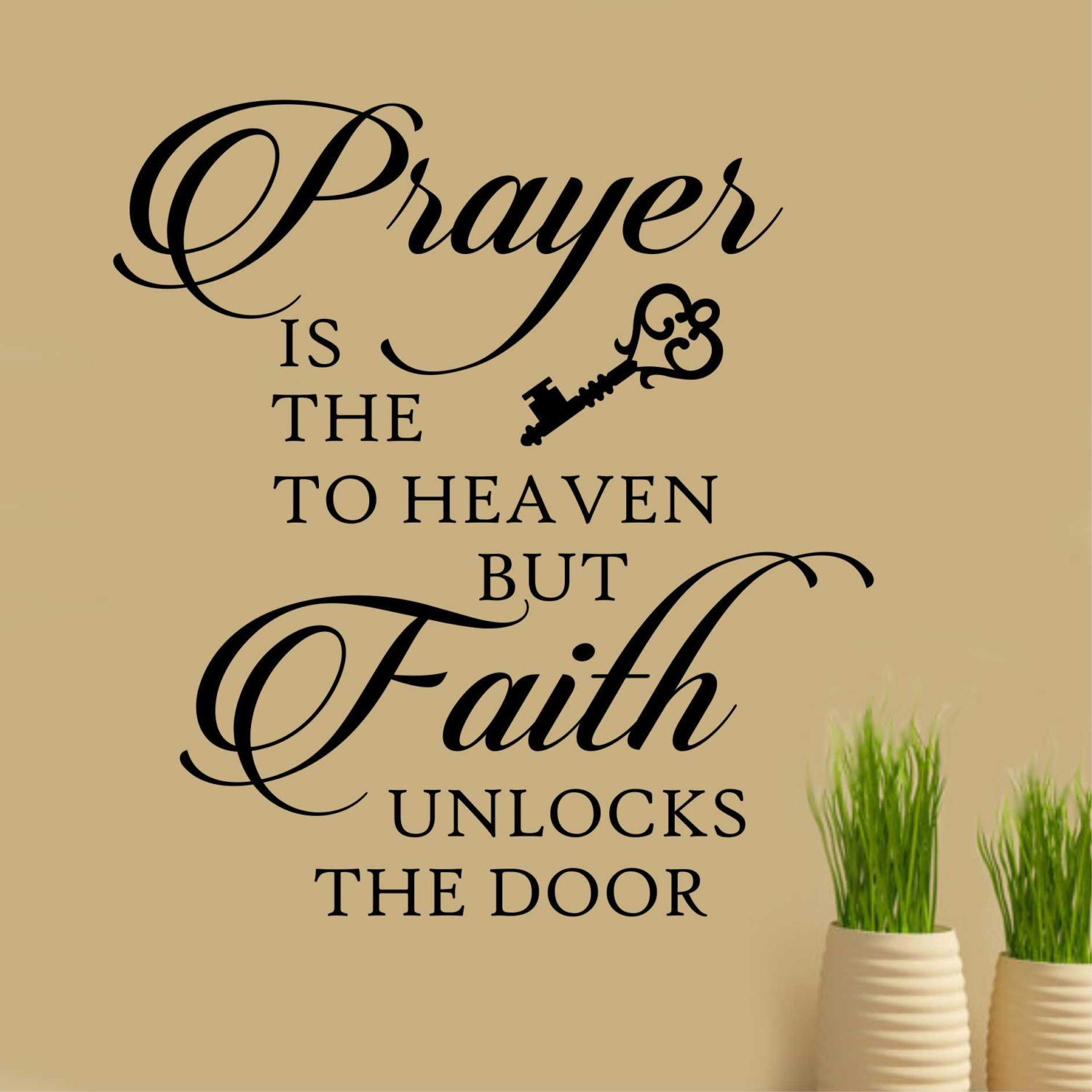 Prayer is Key Quote Vinyl Wall Lettering Vinyl Wall Decals