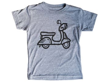 Scooter Shirt for Kids / Bike / Vespa Tshirt for Kids   Crew Neck Tee   Comfy Triblend   Perfect Summer Apparel