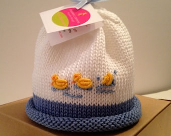 Colorful Crowns Newborn Baby Ducks Baby Hat