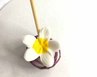 sugar  flowers  Frangipani fondant flowers 24pcs white yellow edible flowers vintage cup cake toppers cake pops tropical decorations