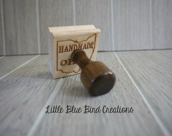 Handmade in Ohio rubber stamp - handmade stamp - your city or state - personalized stamp