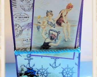 Seaside Themed Vintage ANy Occassion Card