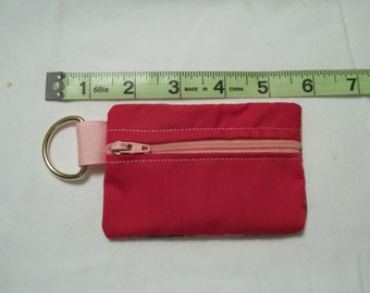 Red Roses 4.5 inch Zipper Keyring Pouch