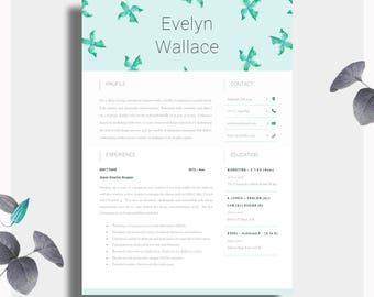 high impact resume template two page cv cover letter advice printable for