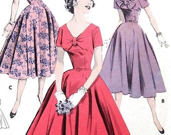 Vintage Dress Sewing Pattern UNCUT Butterick 8115 Size 14