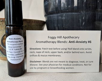 Anti-Anxiety #6 Aromatherapy Blends in a Roller Bottle
