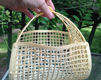 Vintage Plastic Clothespin Basket