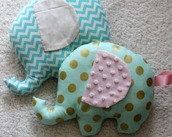 Elephant nursery pillow - made to order baby gift