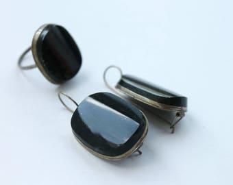 Jasper set, Jasper Set, Jasper ring, Jasper earrings, boho style set #312 Free shipping