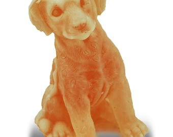 Cute Sitting Puppy Soap Sculpture with Glycerin, Aloe and Vitamin E