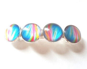 Large multicolored hair clip