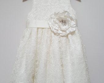 Clara Flowergirl dress, ivory flowergirl dress, flower girl dresses, bridesmaids dress, christening dress,