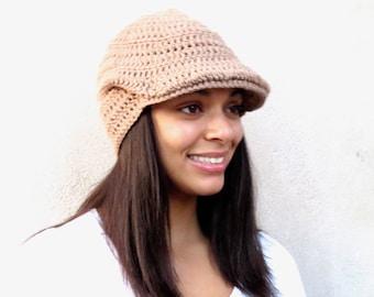 Crochet Hat, Golf Hat, Visor Hat, Crochet Beanie, Adult, Crochet, Women, Teen Accessories,