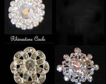 Rhinestone Buttons Embellishments 20 New Millinary Headband Supply