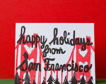 Happy Holidays from San Francisco Card