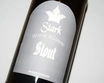 Game of Thrones Stark Beer Labels, Winterfell, House Stark, Arya Stark, Sansa Stark, winter is coming, robb stark, stocking stuffer