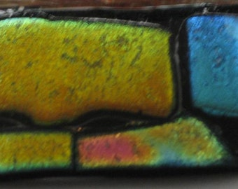 Colorful Fused  Glass Brooch