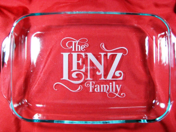 Personalized Family 9x13 Pyrex Baking Dish With