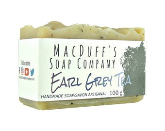 Handcrafted Soap Earl Grey Soap Tea Soap Gift For Women Gift For Men Handmade Soap Bar Vegan Cold Process Soap Shea Butter Soap