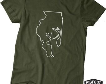Illinois Buck Hunting Shirt  - Buck Hunter- Military Green