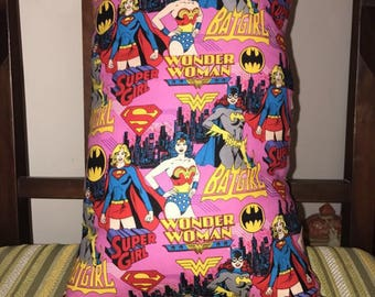 Superhero Pillow: Batgirl, Supergirl, Wonderwoman