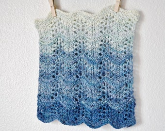 PDF Knitting Pattern for The Wheatfield Cowl Infinity Scarf /Lace Knit Circle Scarf - Instructions for Use with Lightweight Yarns & Handspun