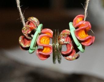 Lampwork beads, glass beads, artist beads, handmade glass beads, Lampworkperlen, handmade set