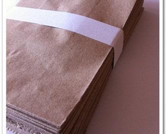 50 pcs Brown Party Favor Paper Bags