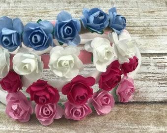 Mini flower crowns - baby headbands - floral