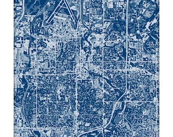 Sioux Falls Cityscape / South Dakota Map Art Print City Wall Art / 8x10 Poster / Choose your color