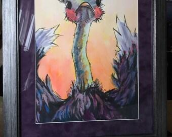 King Oliver Framed original watercolor
