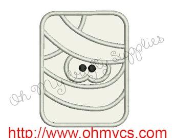 Mummy Applique Embroidery Design
