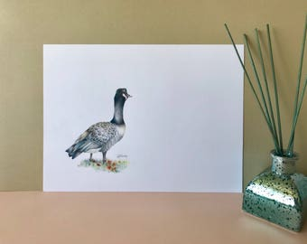 Original goose drawing, bird art, wildife art, bird drawing, wildife, animal art, wildife drawing, original artwork