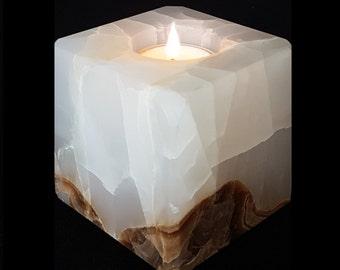 Huey onyx candle holder