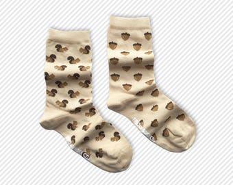 Women's Mismatched Squirrel & Acorn Socks