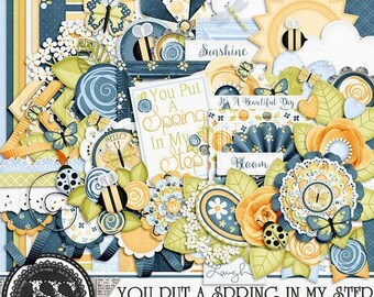 On Sale 50% Off You Put A Spring In My Step Digital Scrapbook Kit