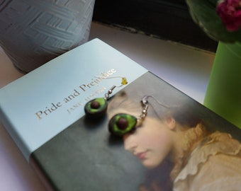 Polymer Clay Avocado Earrings