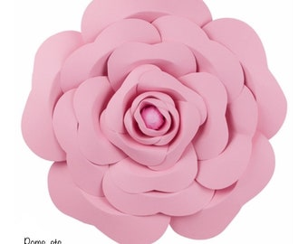 "Rose wall flower- 16"" pink , large paper flower - 3-D //  // wedding decoration // baby shower // party decor"