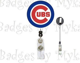 Retractable ID Badge Holder - Chicago Cubs
