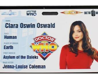 Doctor Who Clara Oswin Oswald Prop ID Badge