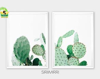 Cactus Print, Cactus Art, Cactus Wall Art Decor, Cacti, Cactus Poster, Cactus, Botanical Print, Desert Print, Set of 2 Prints, Succulent