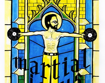 Screen printing / Guillaume Delamarche: Martial Jesus [life wild 2014]